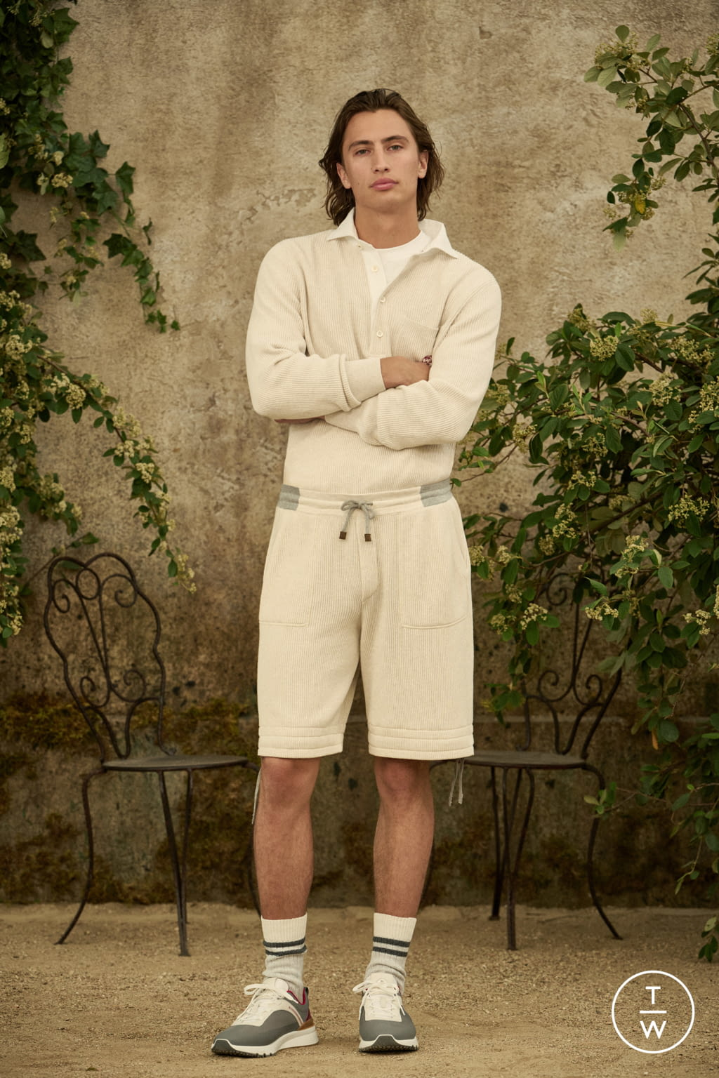 Fashion Week Milan Spring/Summer 2022 look 19 from the Brunello Cucinelli collection menswear
