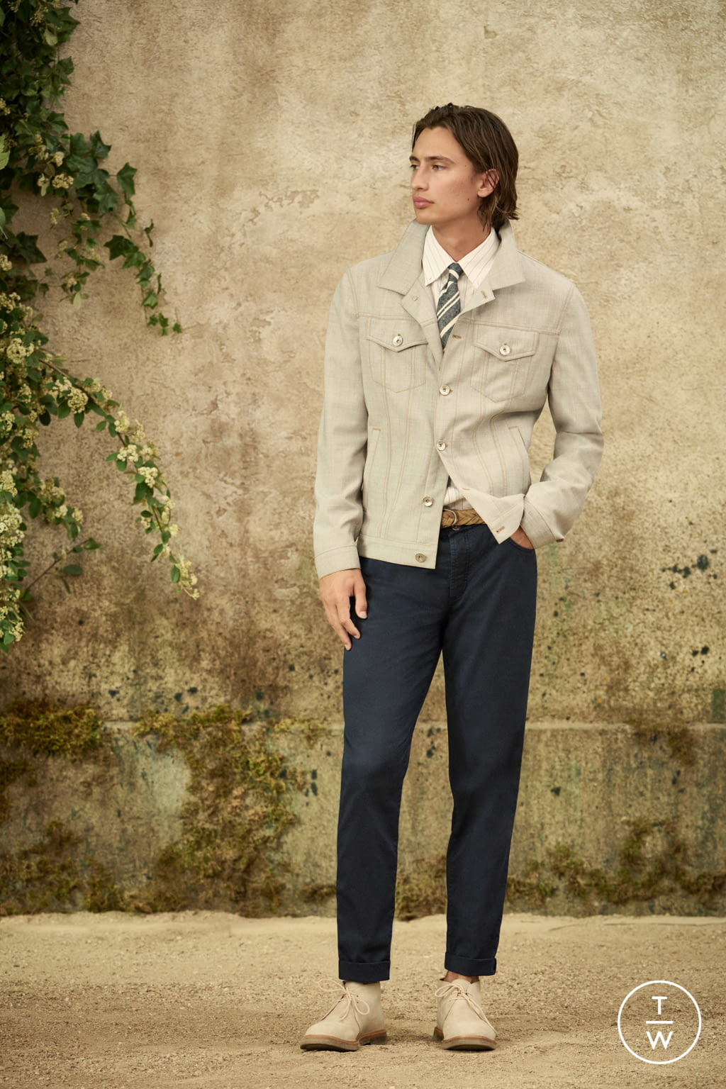 Fashion Week Milan Spring/Summer 2022 look 24 from the Brunello Cucinelli collection menswear