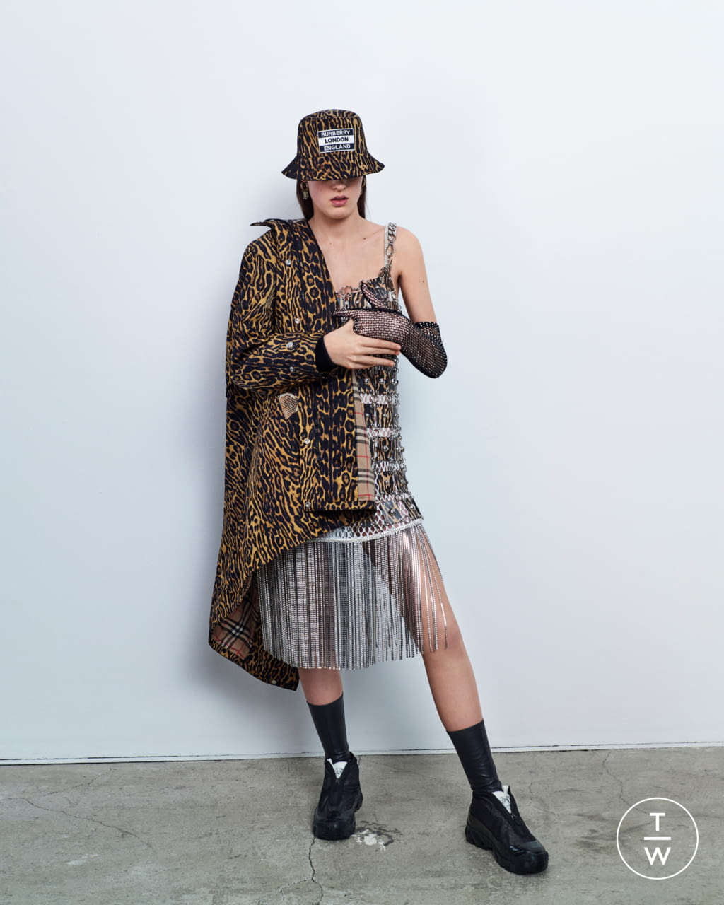 Fashion Week London Resort 2020 look 5 from the Burberry collection womenswear