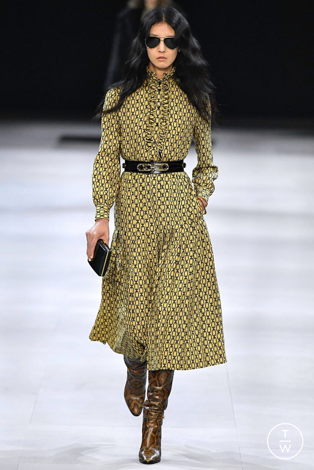 Fashion Week Paris Fall/Winter 2019 look 47 from the Celine collection 女装