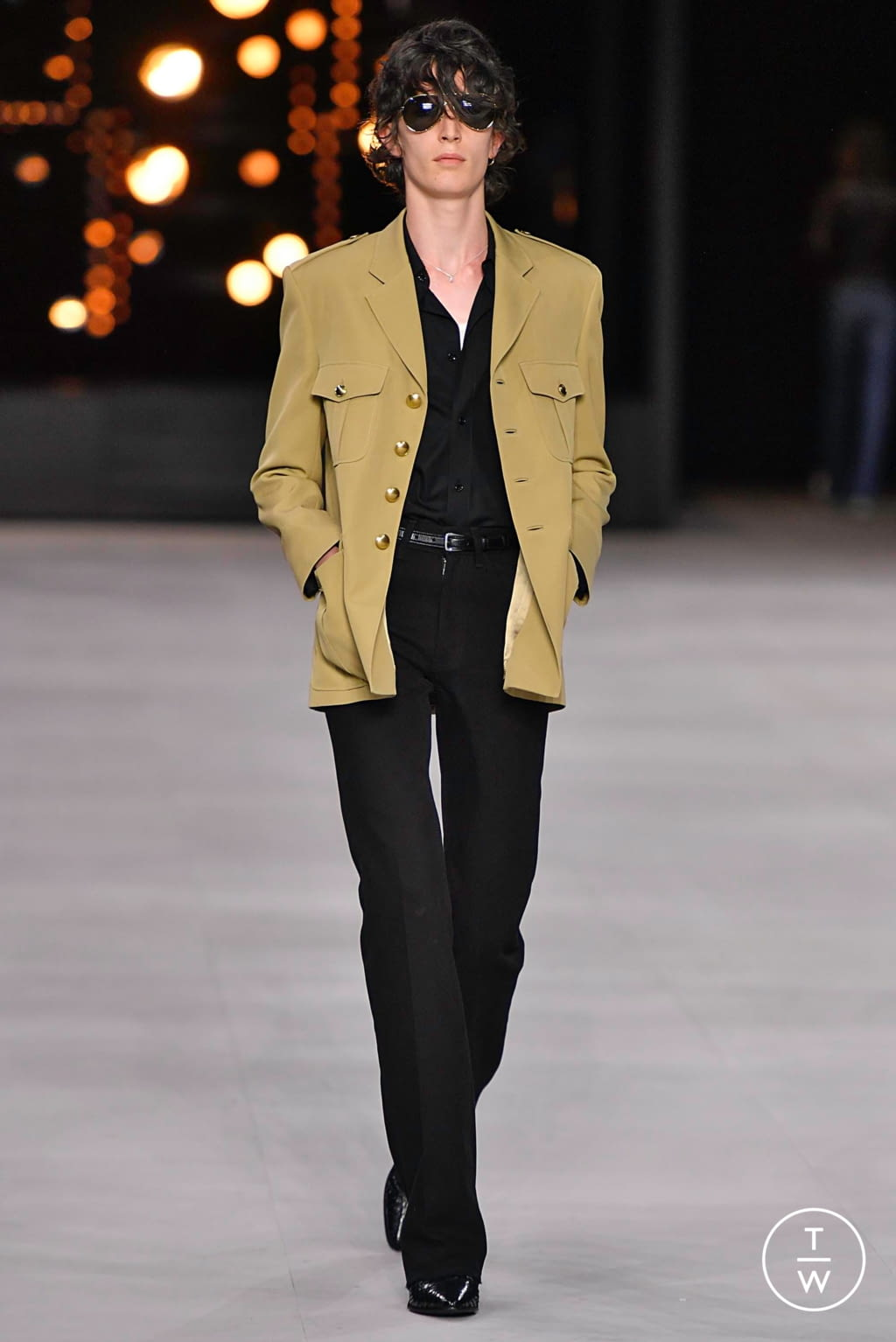 Fashion Week Paris Spring/Summer 2020 look 13 from the Celine collection menswear
