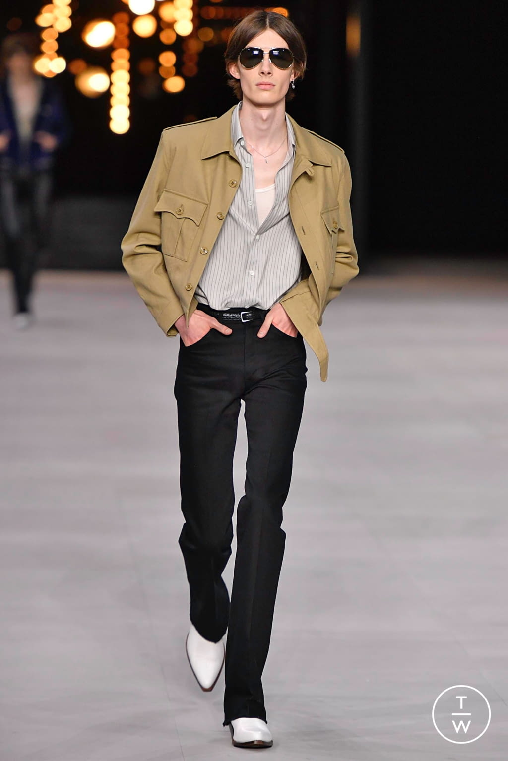 Fashion Week Paris Spring/Summer 2020 look 18 from the Celine collection menswear