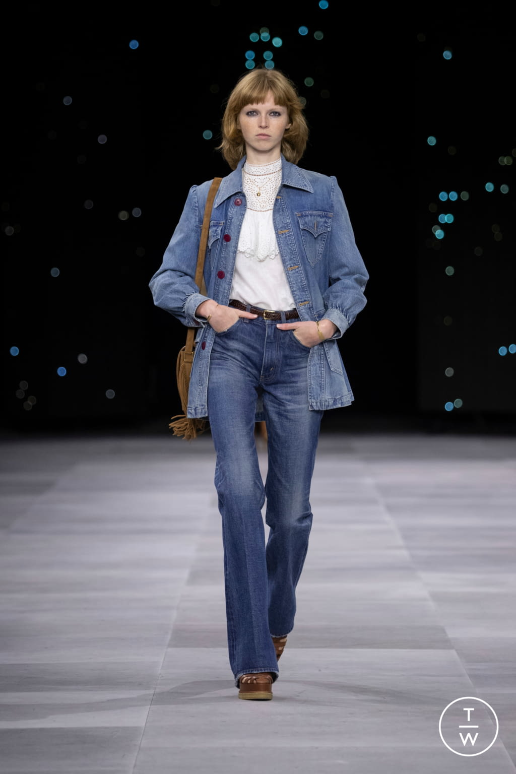 Fashion Week Paris Spring/Summer 2020 look 44 from the Celine collection womenswear