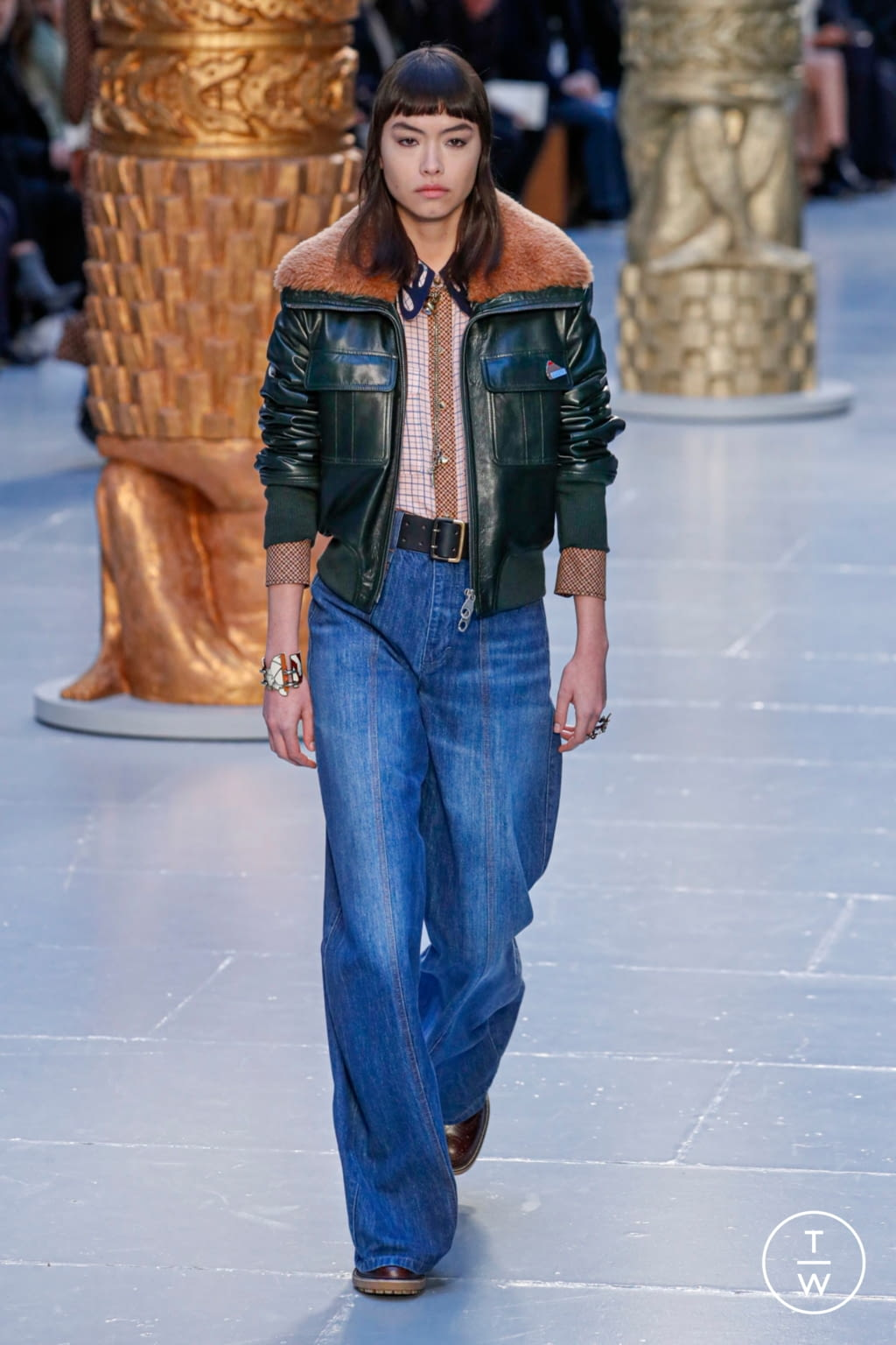 Fashion Week Paris Fall/Winter 2020 look 5 from the Chloé collection womenswear