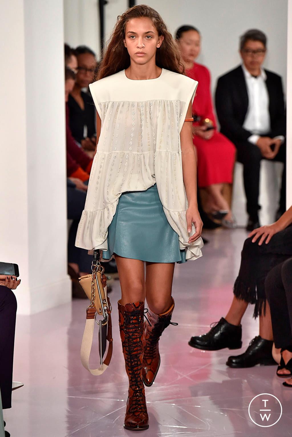 Fashion Week Paris Spring/Summer 2018 look 10 de la collection Chloé womenswear
