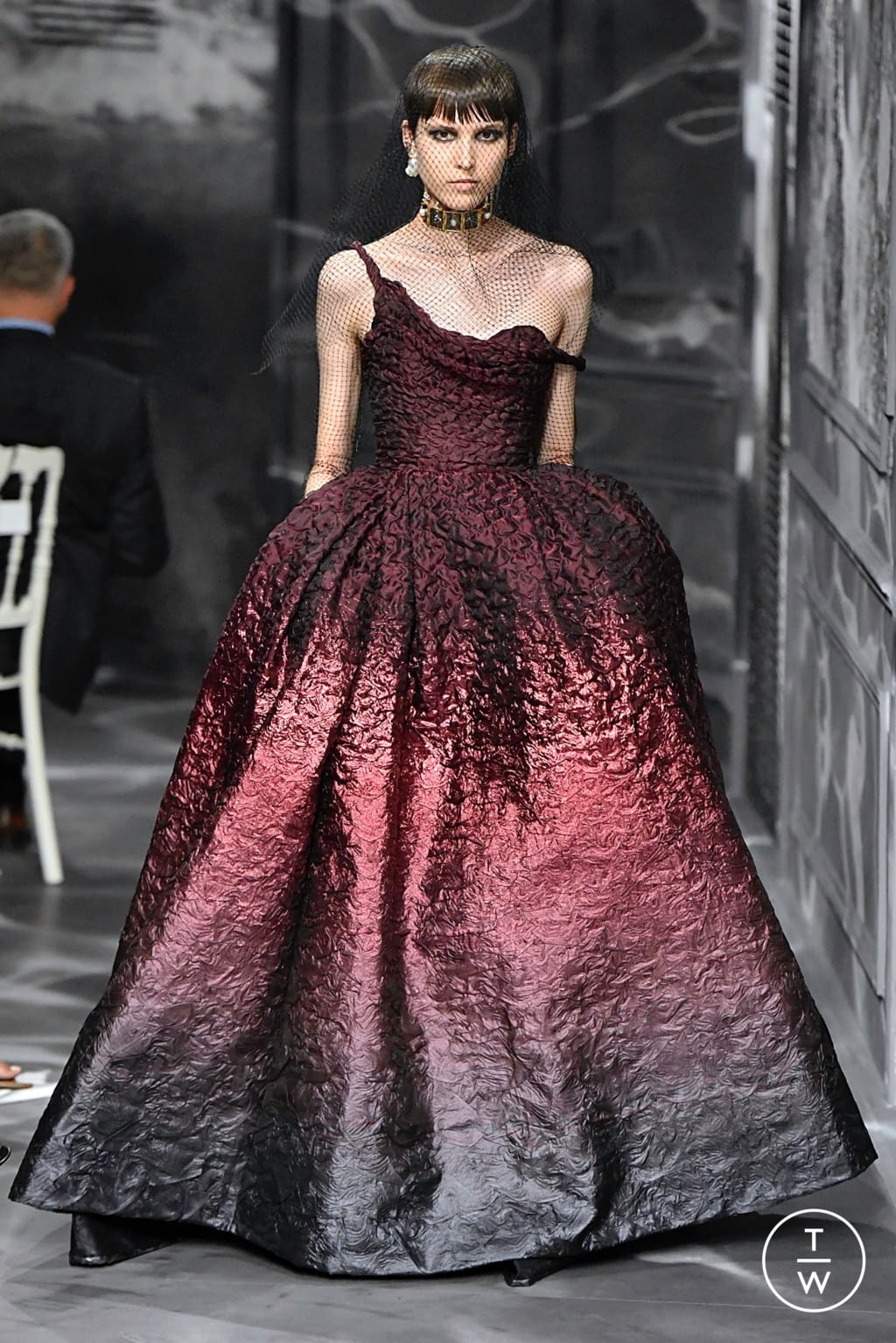 Fashion Week Paris Fall/Winter 2019 look 12 from the Christian Dior collection couture