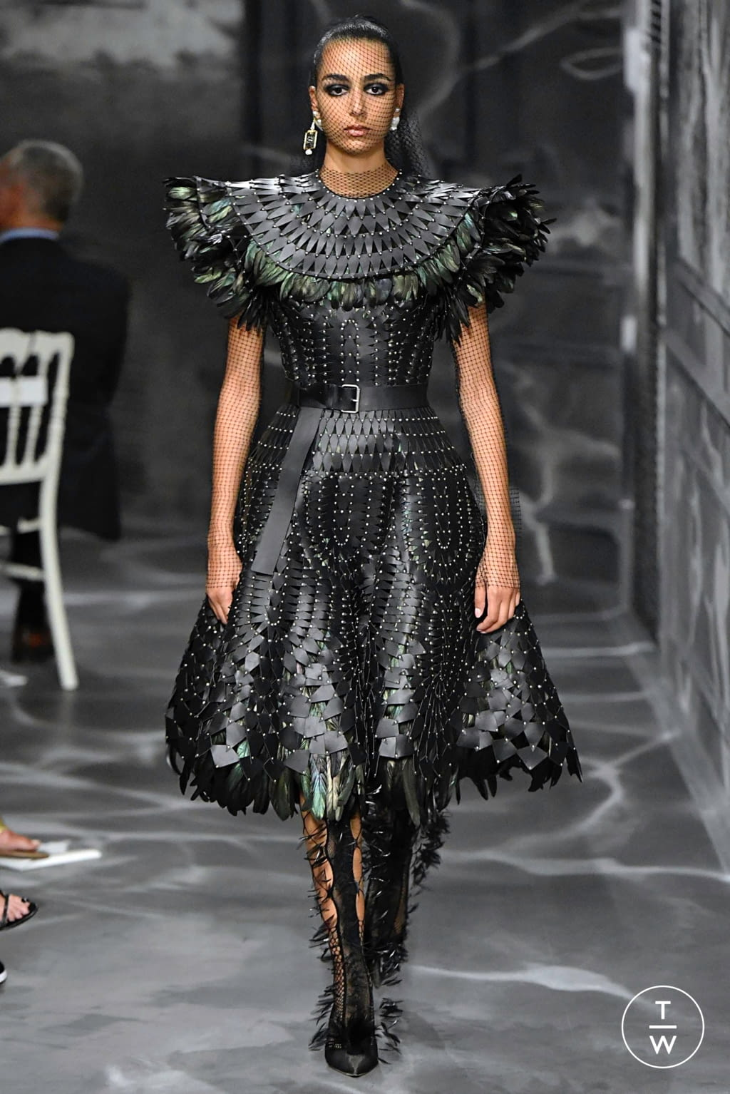 Fashion Week Paris Fall/Winter 2019 look 15 from the Christian Dior collection couture