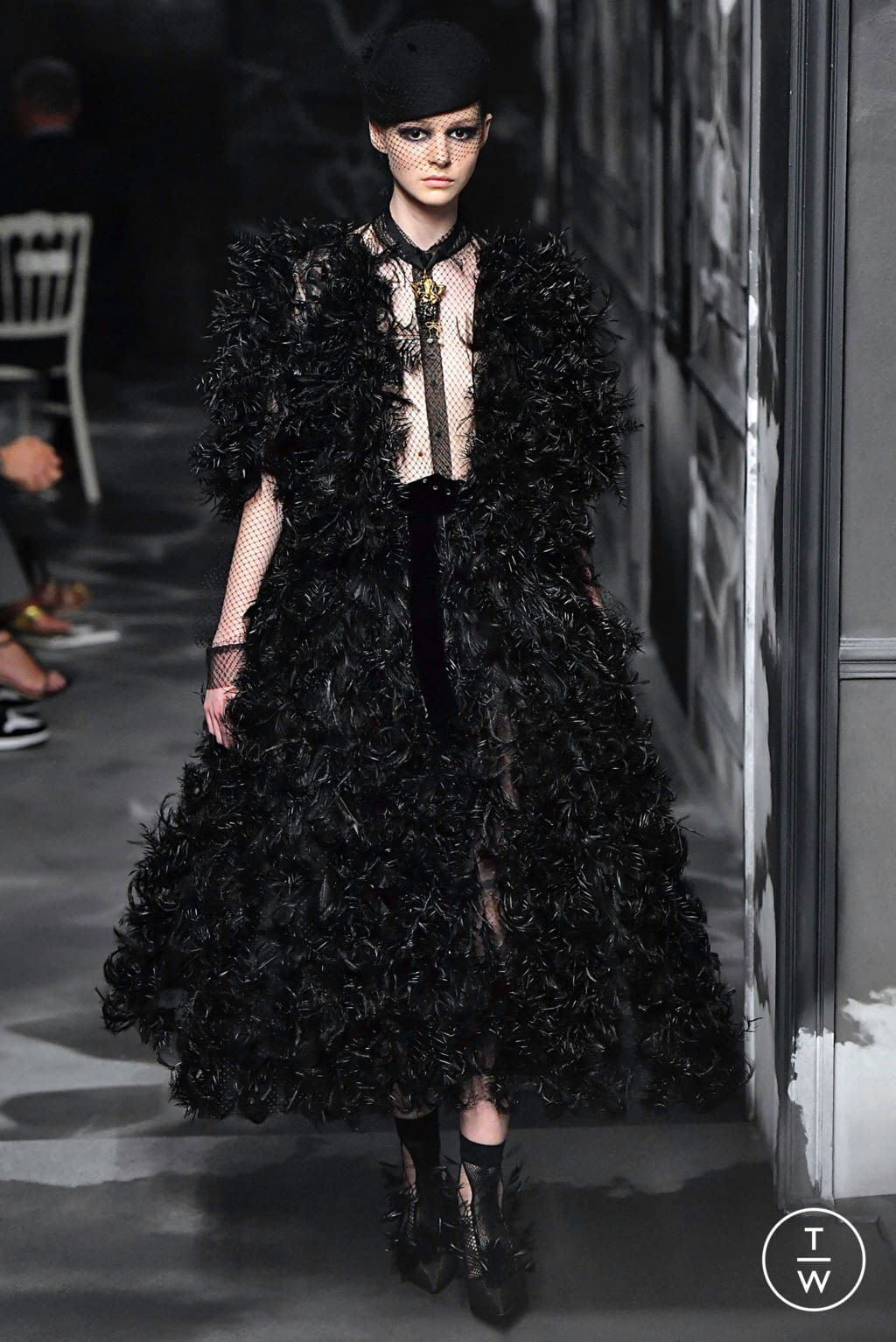 Fashion Week Paris Fall/Winter 2019 look 28 from the Christian Dior collection couture
