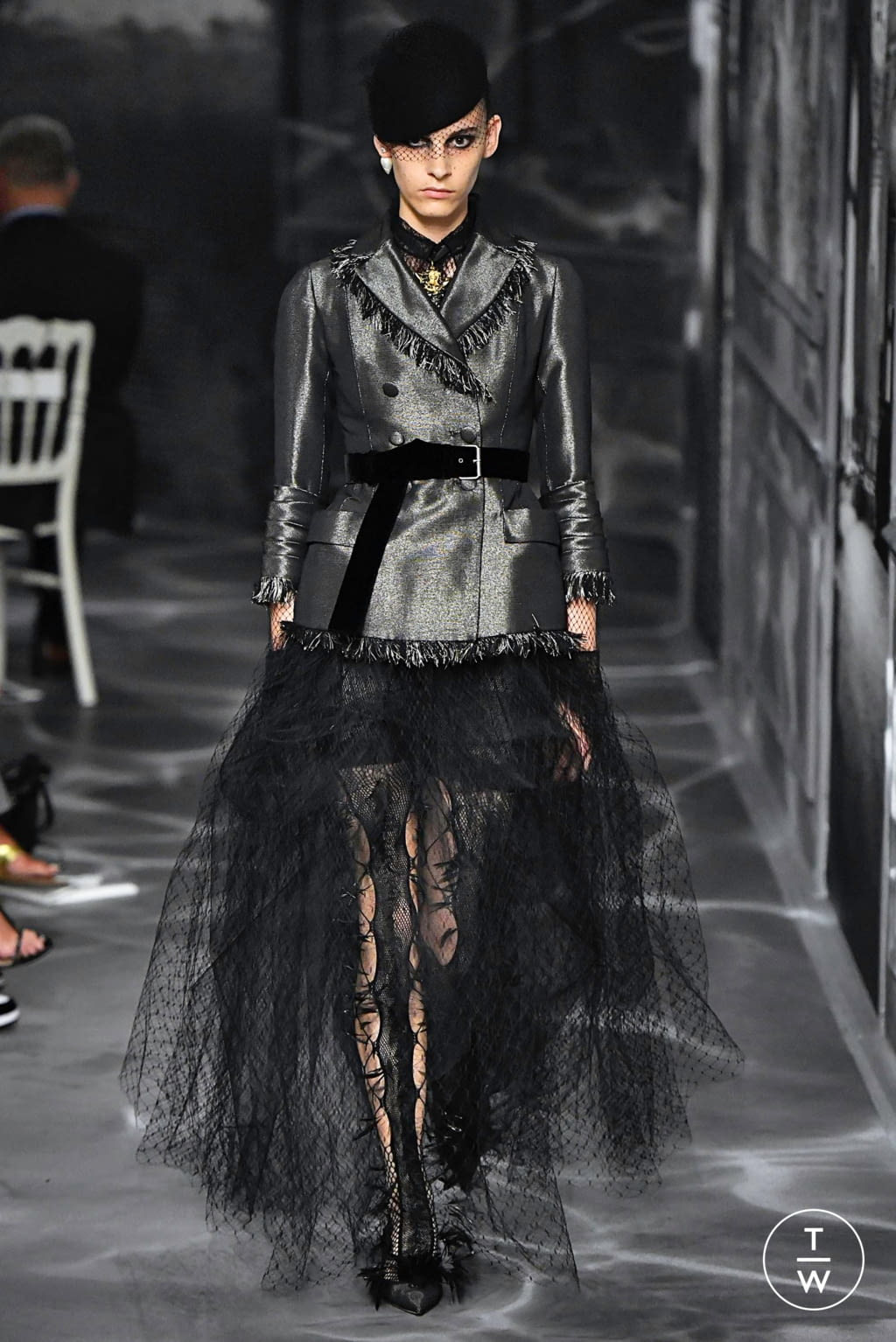 Fashion Week Paris Fall/Winter 2019 look 41 from the Christian Dior collection couture