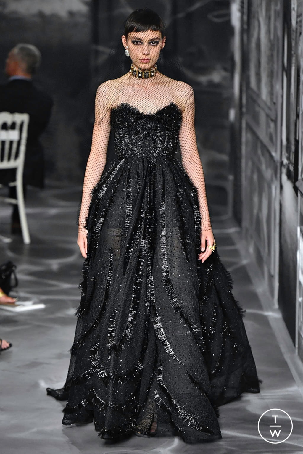 Fashion Week Paris Fall/Winter 2019 look 55 from the Christian Dior collection couture