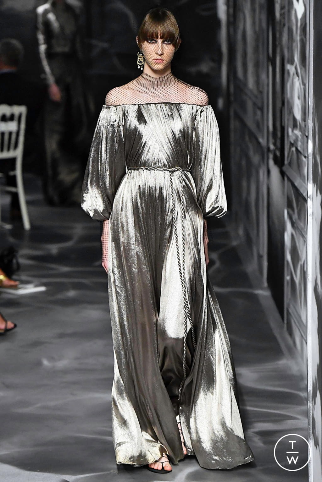 Fashion Week Paris Fall/Winter 2019 look 59 from the Christian Dior collection couture