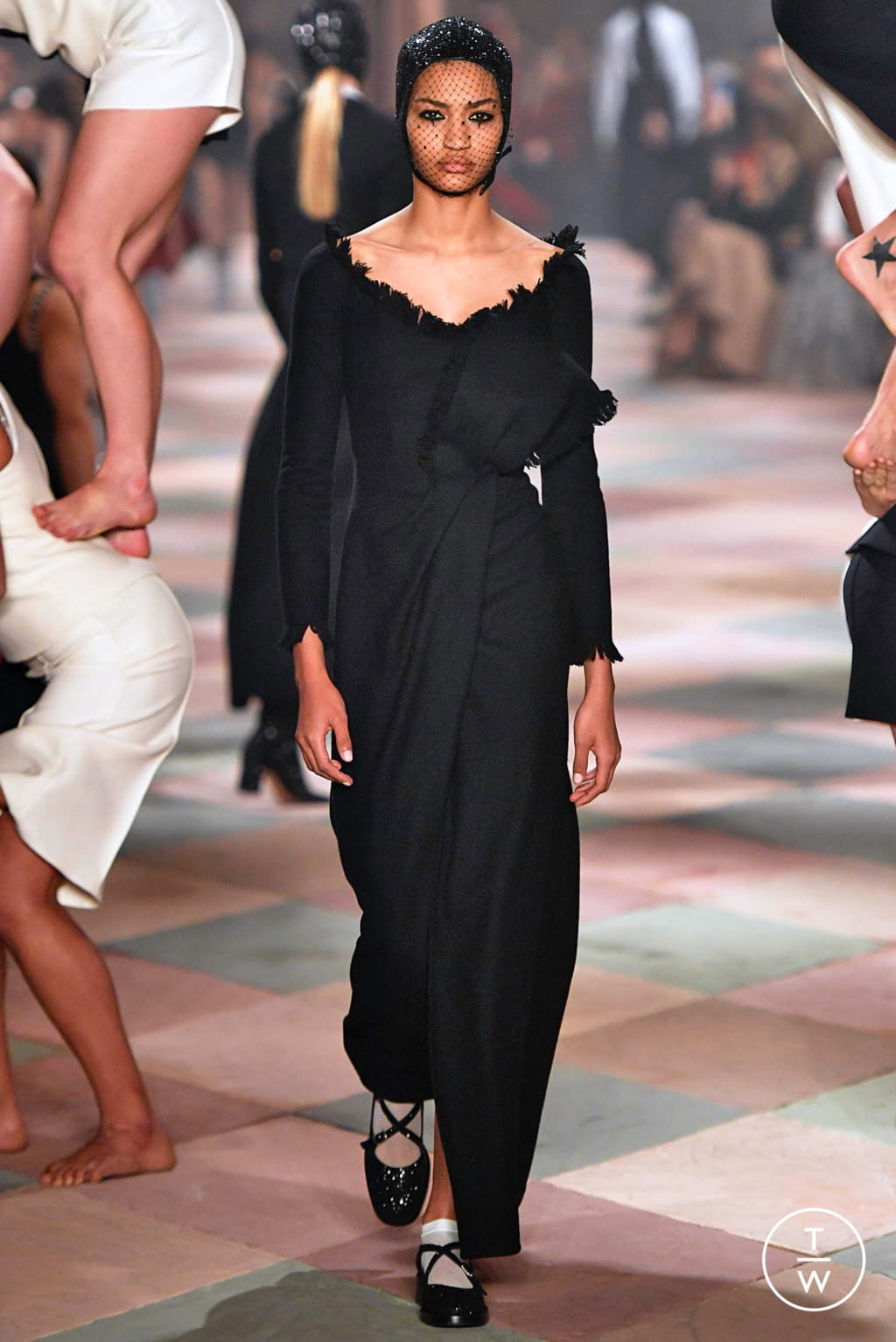 Fashion Week Paris Spring/Summer 2019 look 7 from the Christian Dior collection couture