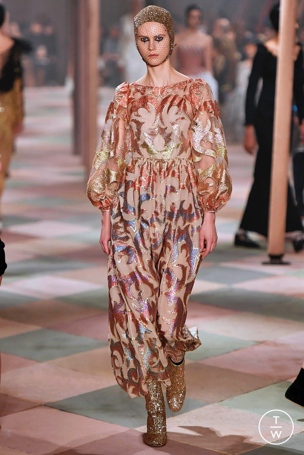 Fashion Week Paris Spring/Summer 2019 look 15 from the Christian Dior collection couture