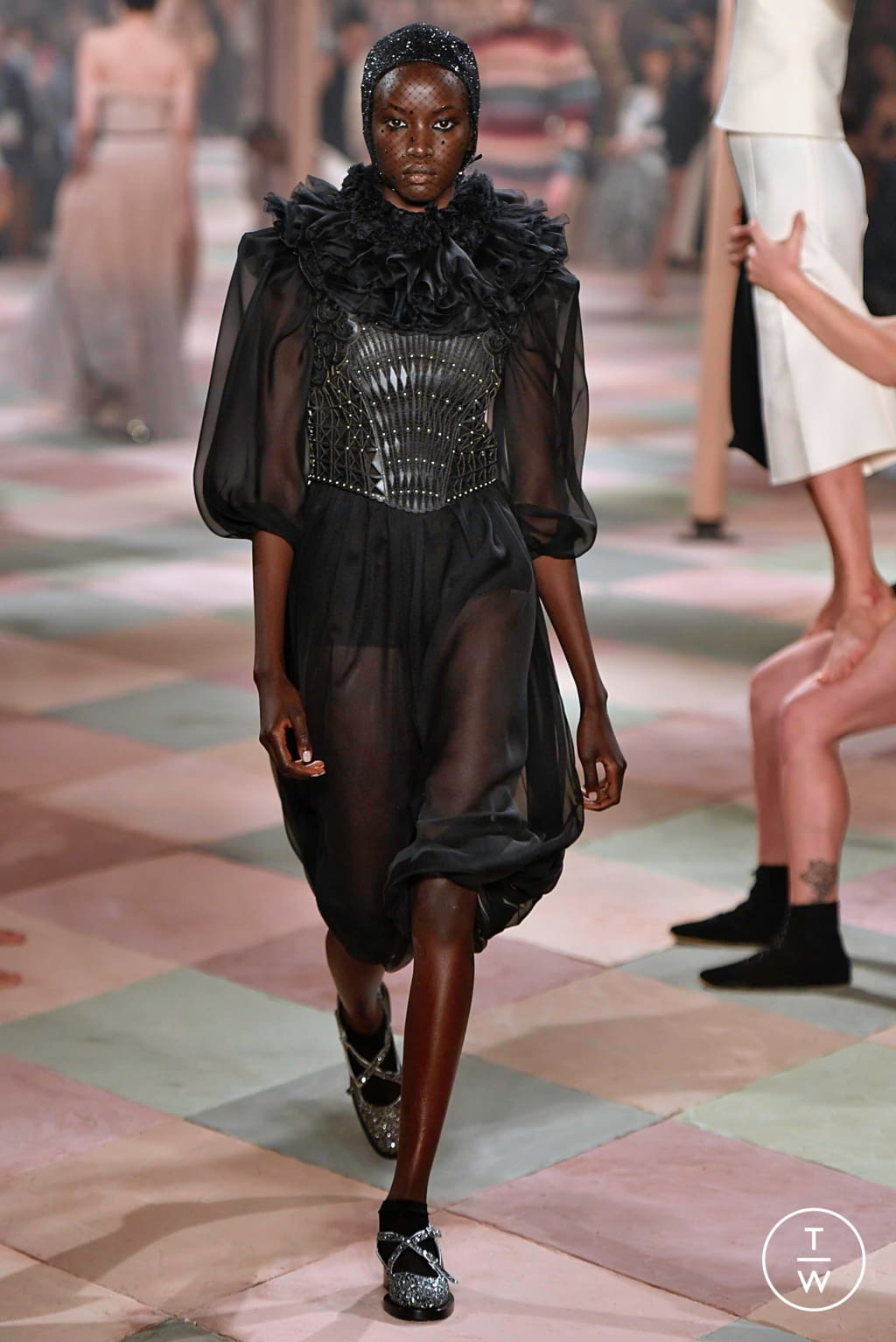 Fashion Week Paris Spring/Summer 2019 look 21 from the Christian Dior collection couture