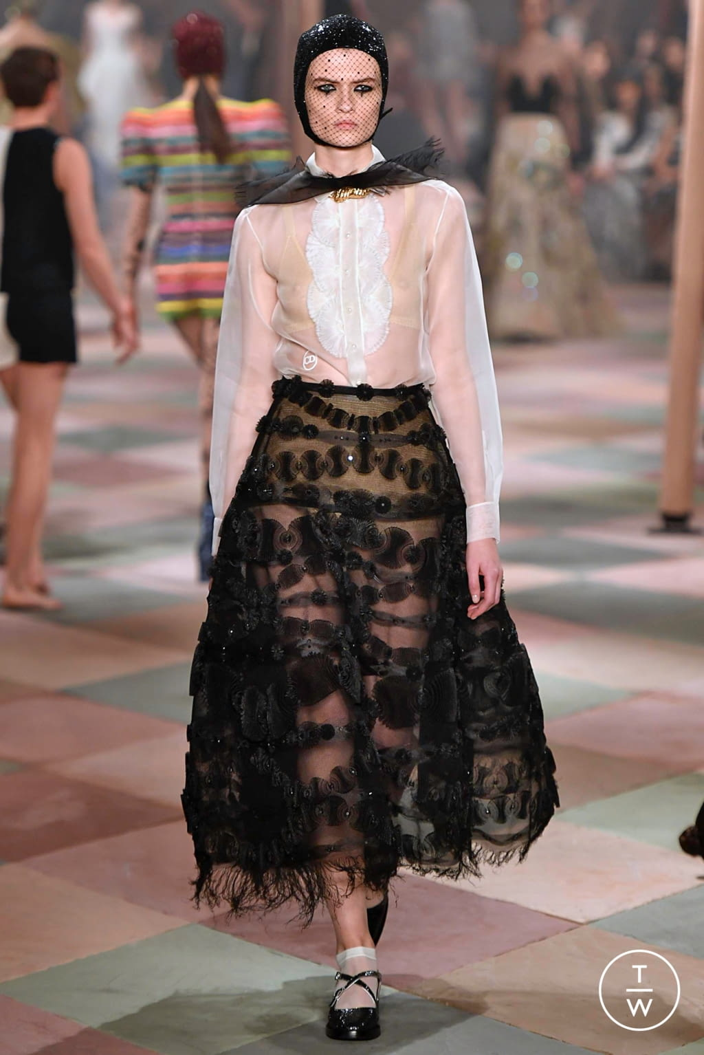 Fashion Week Paris Spring/Summer 2019 look 29 from the Christian Dior collection couture