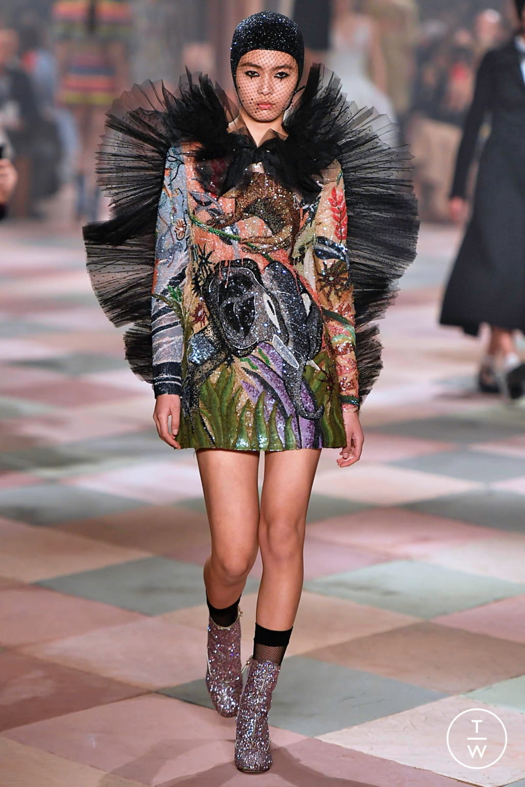 Fashion Week Paris Spring/Summer 2019 look 31 from the Christian Dior collection couture