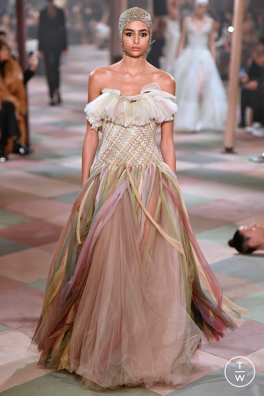 Fashion Week Paris Spring/Summer 2019 look 30 from the Christian Dior collection couture