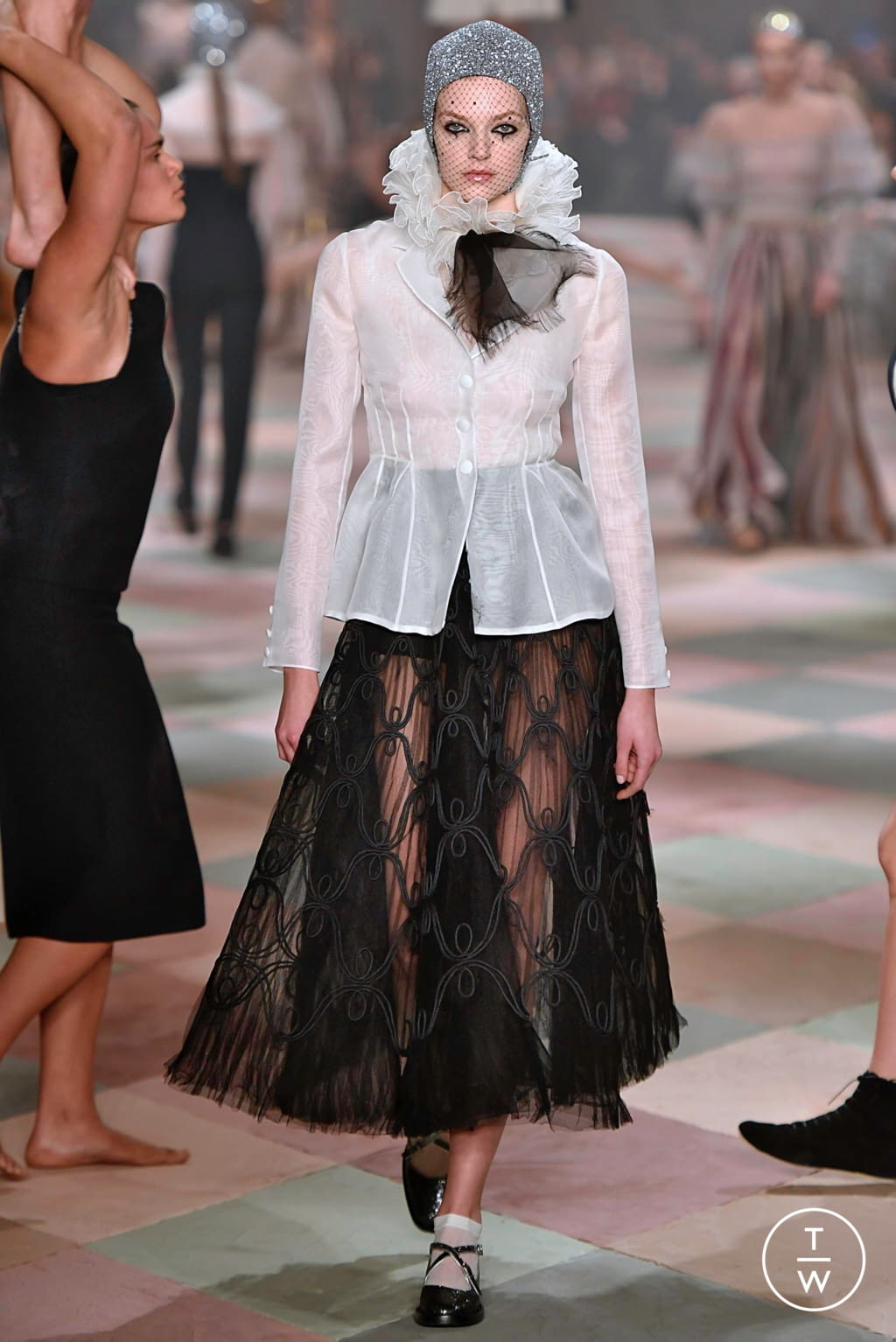 Fashion Week Paris Spring/Summer 2019 look 42 from the Christian Dior collection 高级定制