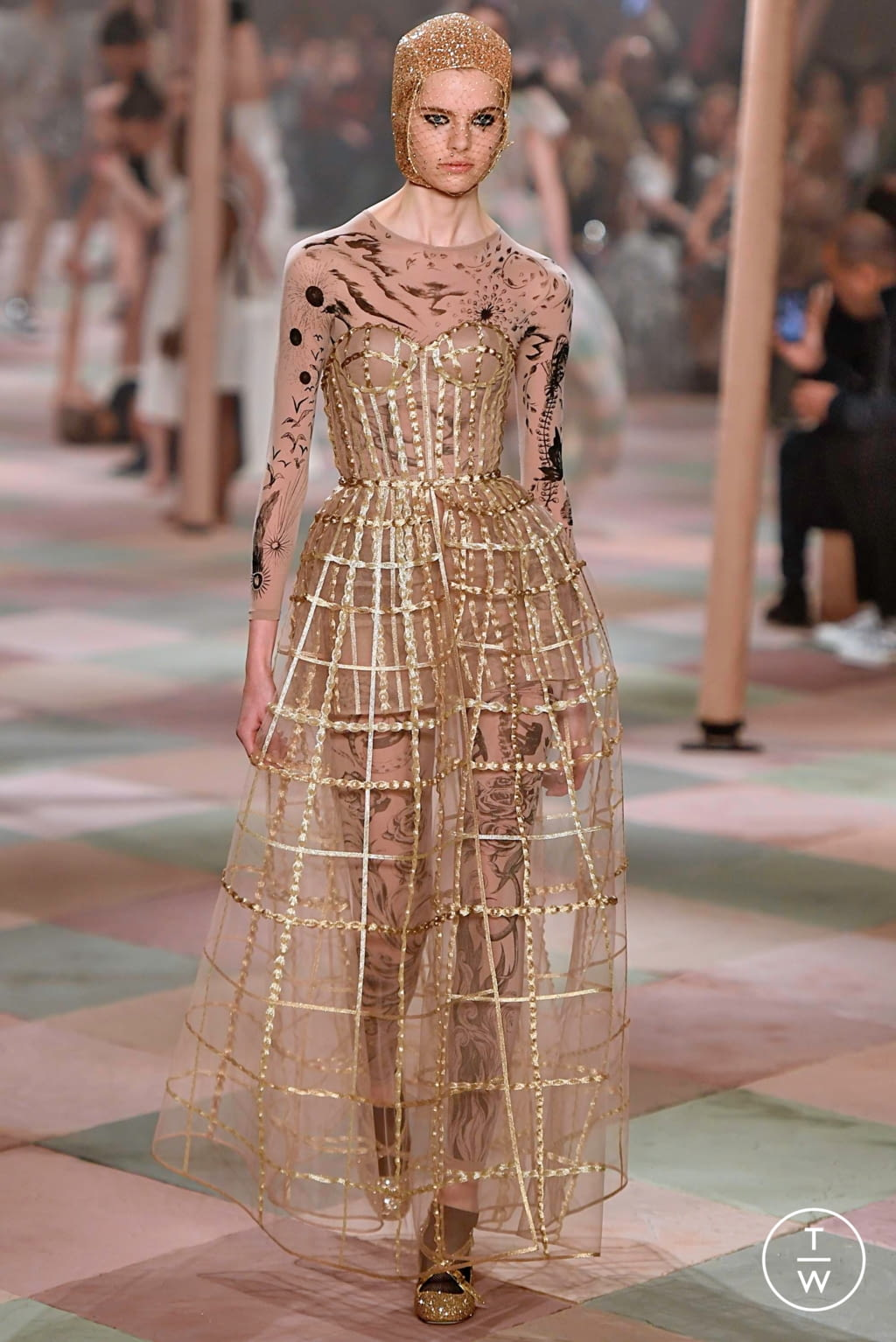 Fashion Week Paris Spring/Summer 2019 look 54 from the Christian Dior collection couture
