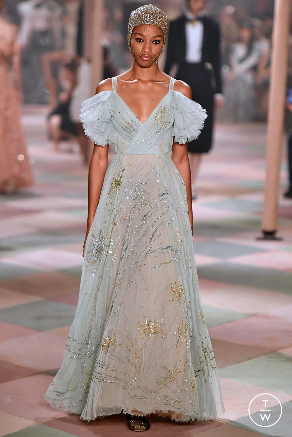 Fashion Week Paris Spring/Summer 2019 look 59 from the Christian Dior collection couture