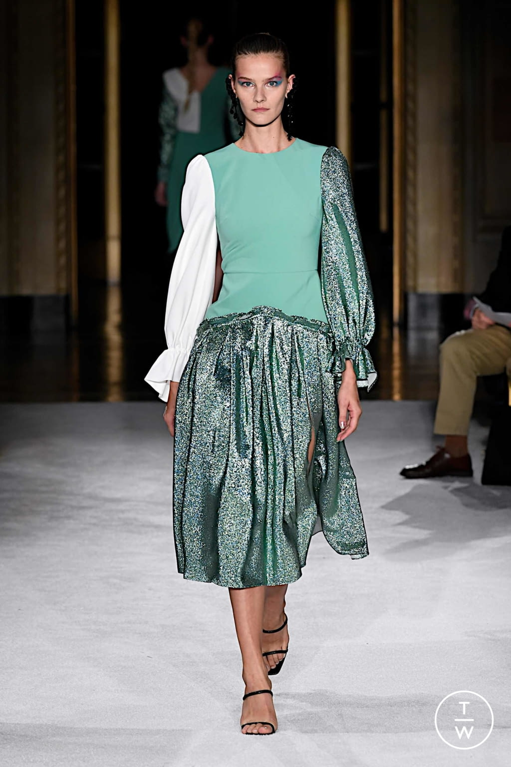 Fashion Week New York Spring/Summer 2020 look 5 from the Christian Siriano collection womenswear