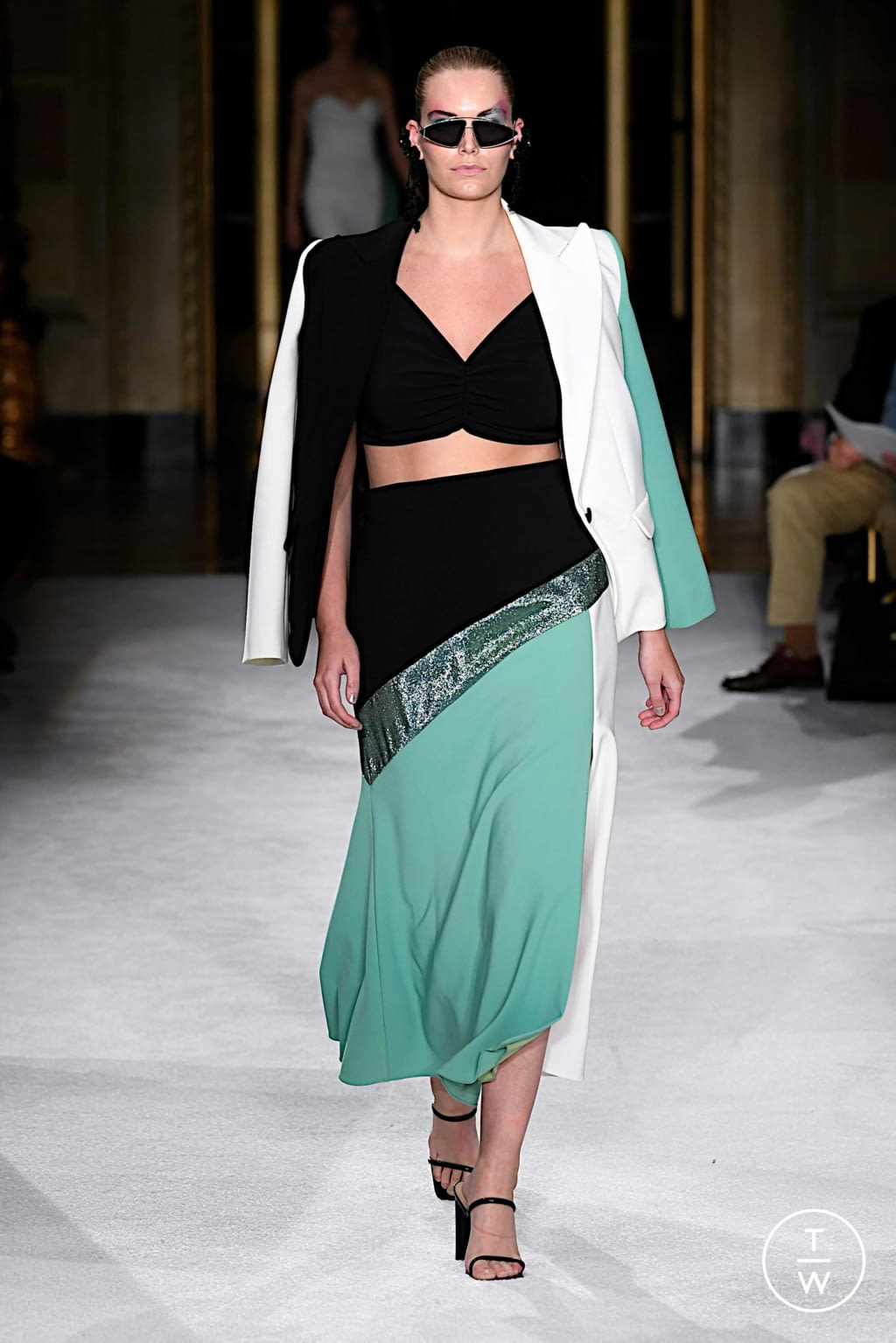 Fashion Week New York Spring/Summer 2020 look 7 from the Christian Siriano collection womenswear