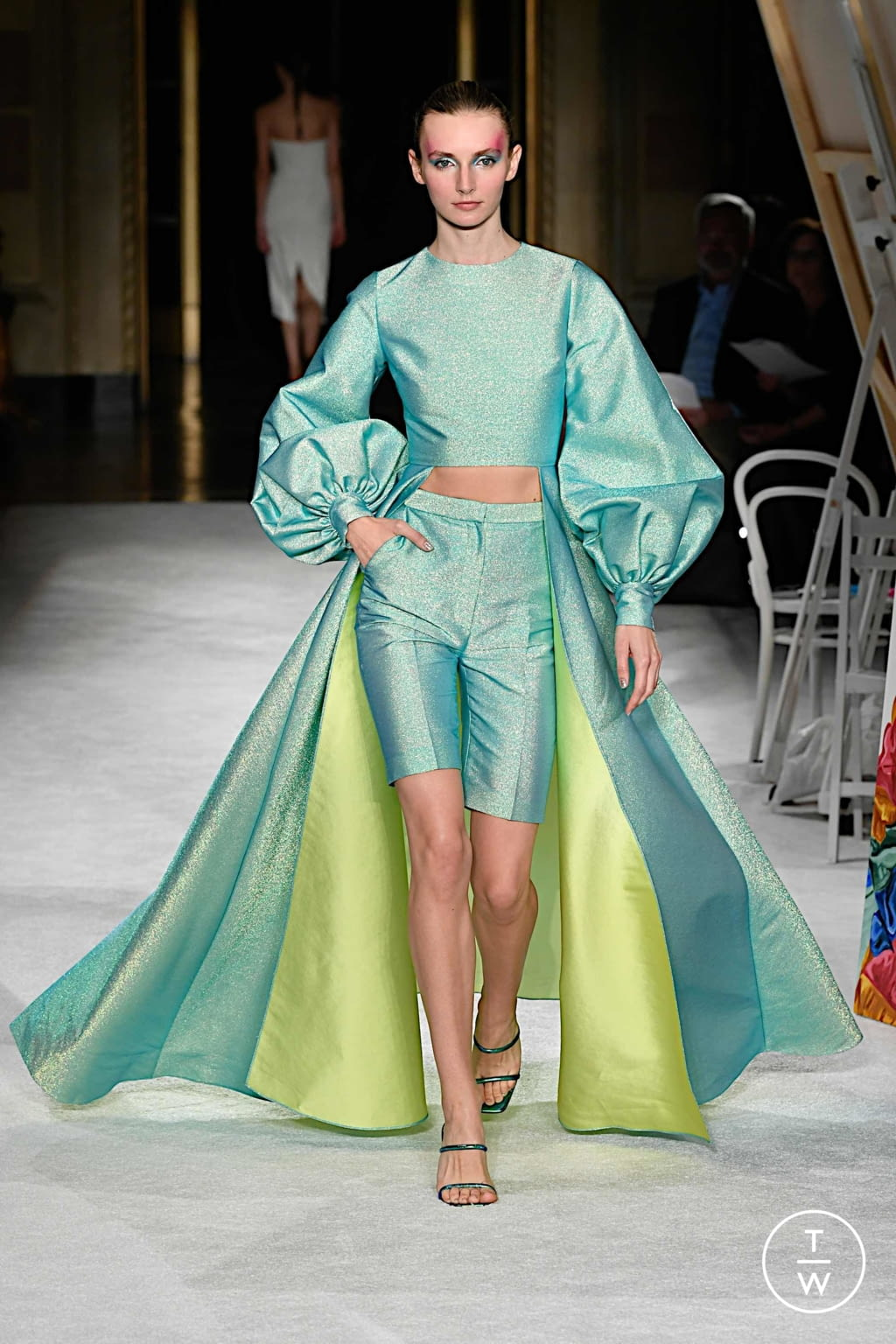 Fashion Week New York Spring/Summer 2020 look 12 from the Christian Siriano collection womenswear