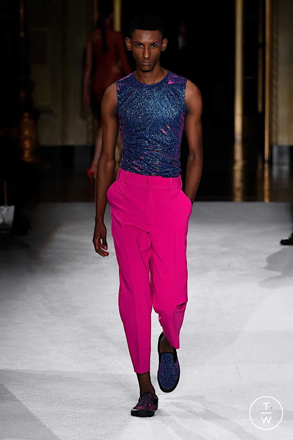 Fashion Week New York Spring/Summer 2020 look 45 from the Christian Siriano collection womenswear