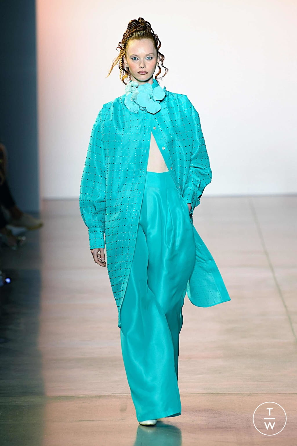 Fashion Week New York Spring/Summer 2020 look 10 de la collection Christopher John Rogers womenswear