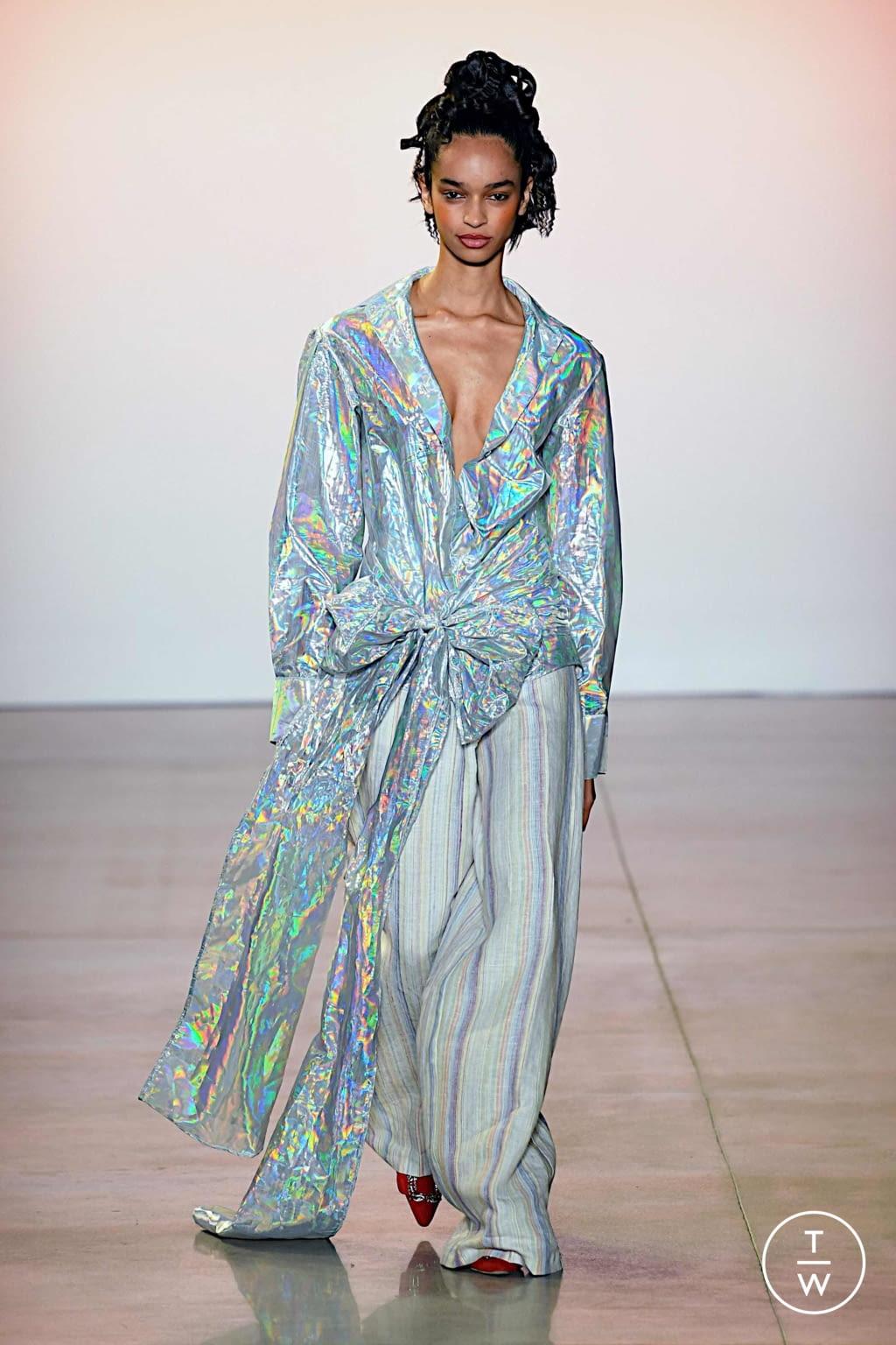 Fashion Week New York Spring/Summer 2020 look 16 de la collection Christopher John Rogers womenswear