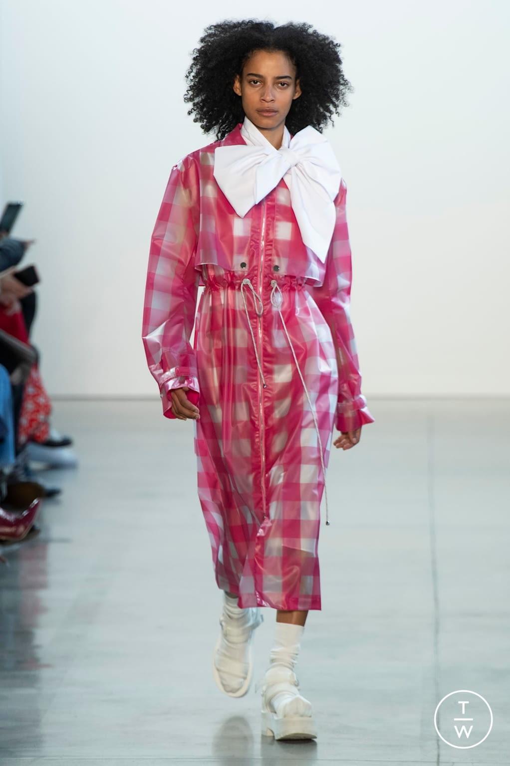 Fashion Week New York Fall/Winter 2020 look 9 from the Claudia Li collection womenswear