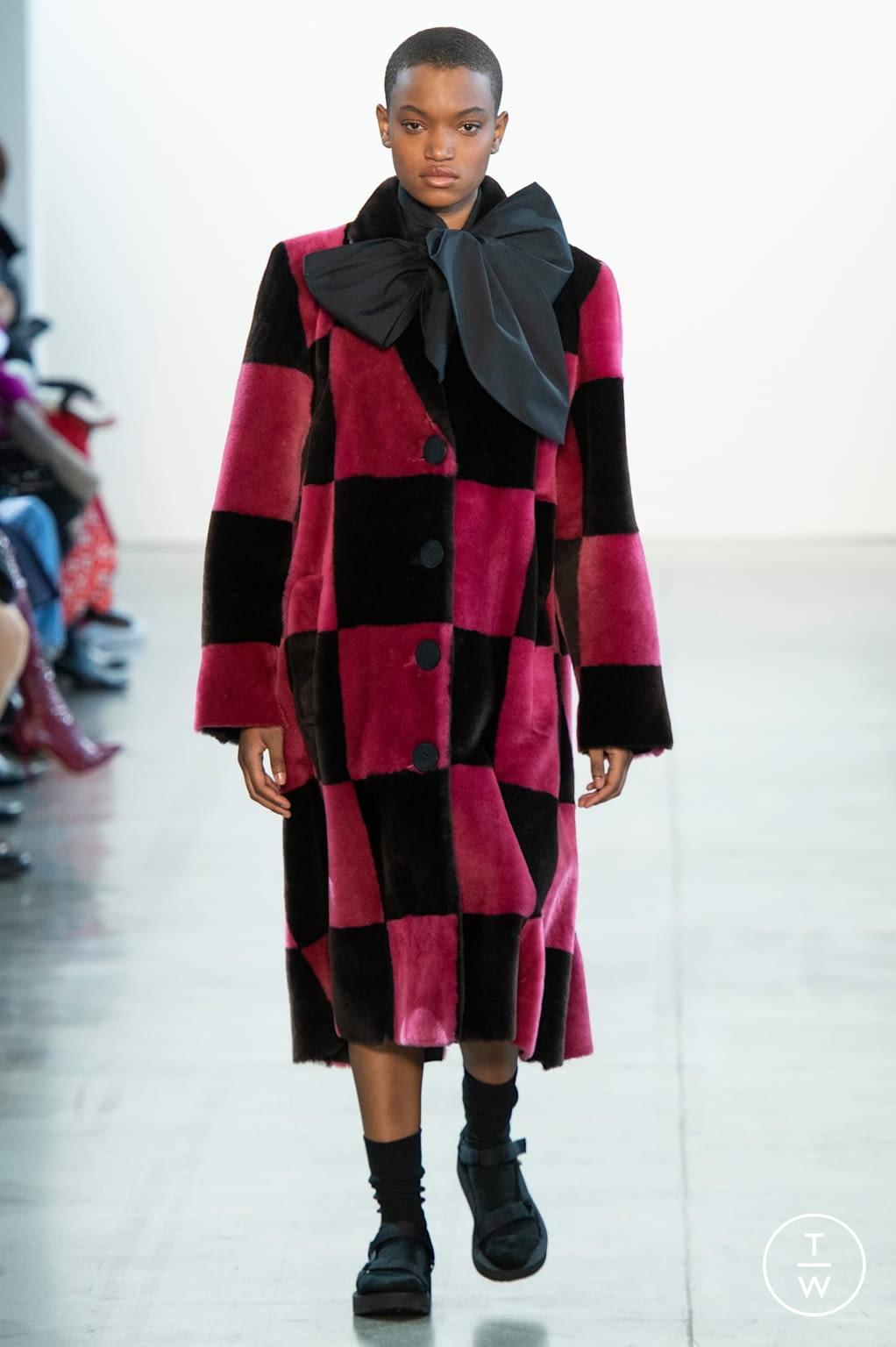 Fashion Week New York Fall/Winter 2020 look 12 from the Claudia Li collection womenswear