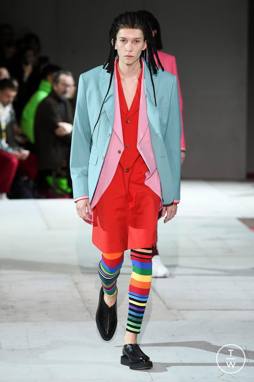Fashion Week Paris Fall/Winter 2020 look 21 from the Comme des Garçons Homme Plus collection menswear