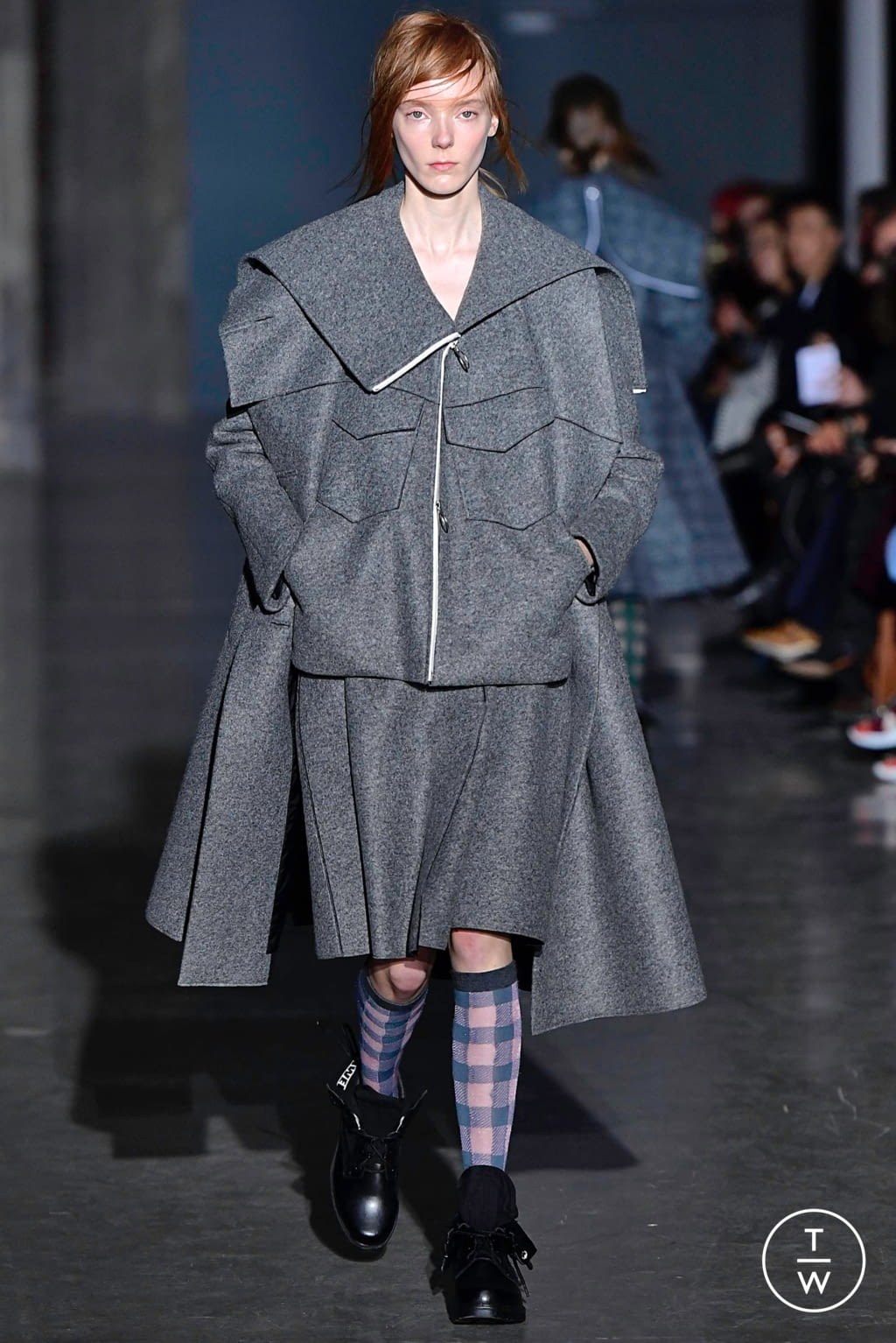 Fashion Week Paris Fall/Winter 2019 look 2 from the Dawei collection womenswear