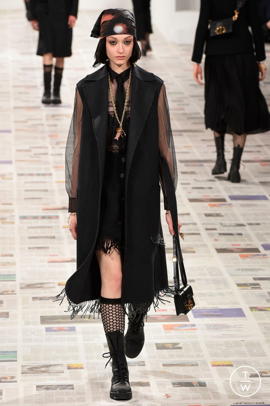 Fashion Week Paris Fall/Winter 2020 look 14 from the Christian Dior collection 女装
