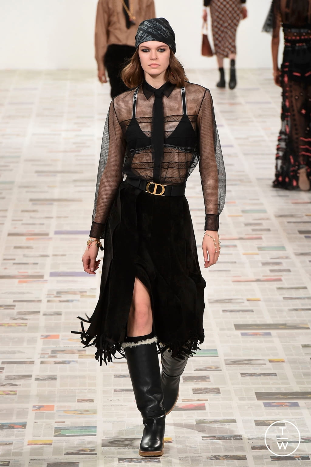 Fashion Week Paris Fall/Winter 2020 look 21 from the Christian Dior collection 女装