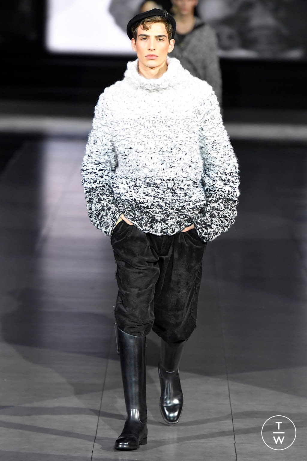 Fashion Week Milan Fall/Winter 2020 look 1 from the Dolce & Gabbana collection menswear