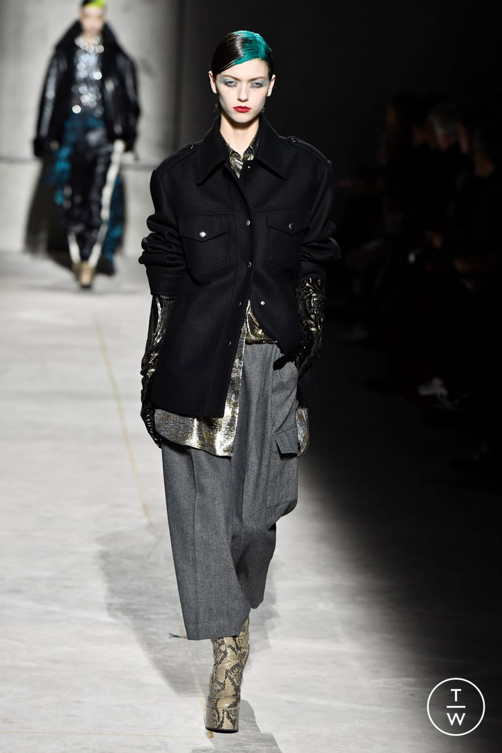 Fashion Week Paris Fall/Winter 2020 look 62 from the Dries Van Noten collection womenswear