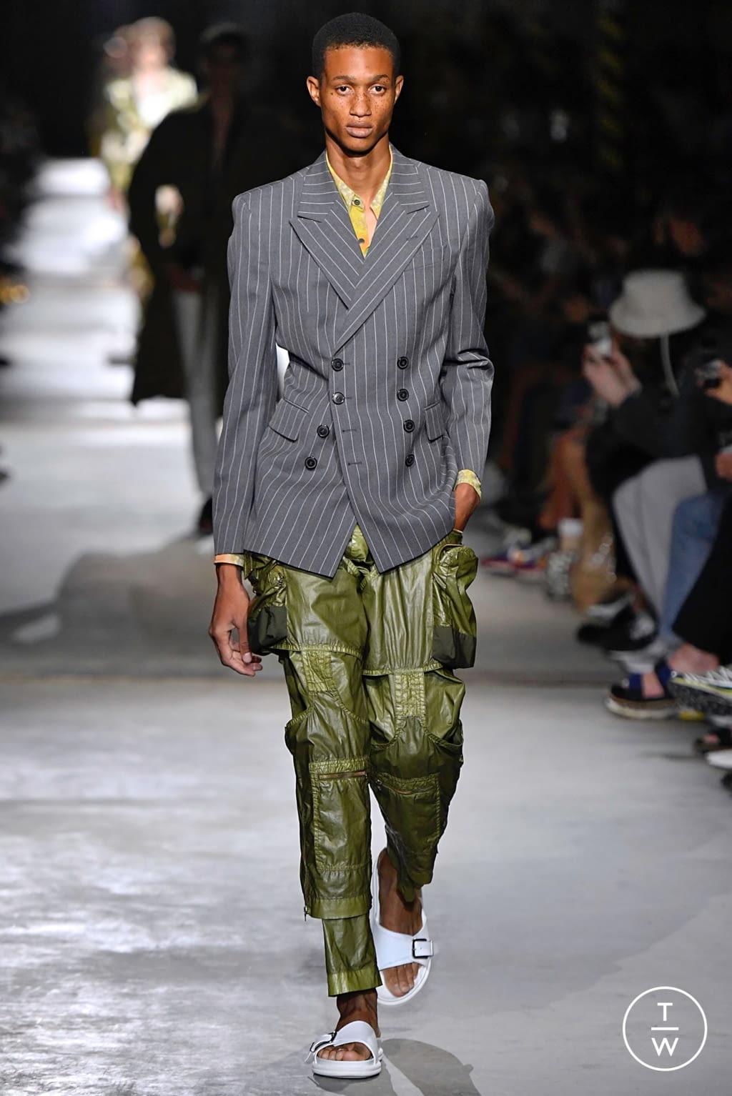 Fashion Week Paris Spring/Summer 2020 look 16 from the Dries Van Noten collection menswear