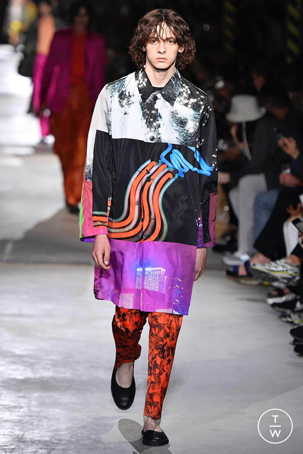Fashion Week Paris Spring/Summer 2020 look 58 from the Dries Van Noten collection menswear