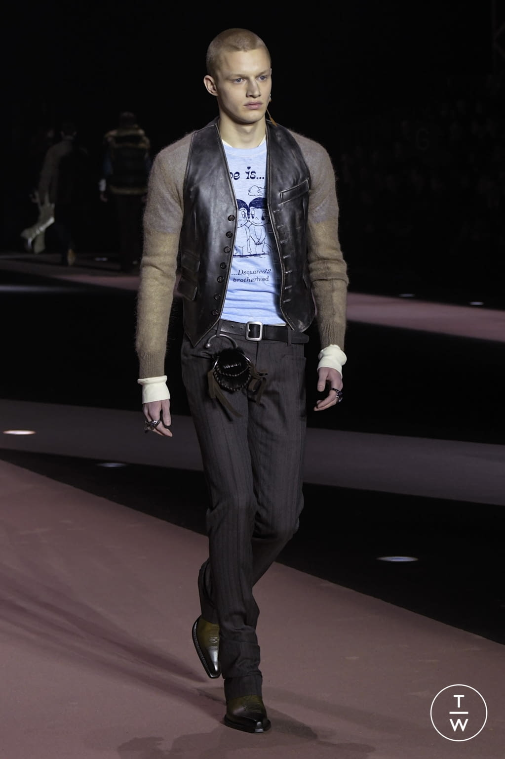 Fashion Week Milan Fall/Winter 2020 look 37 from the Dsquared2 collection menswear