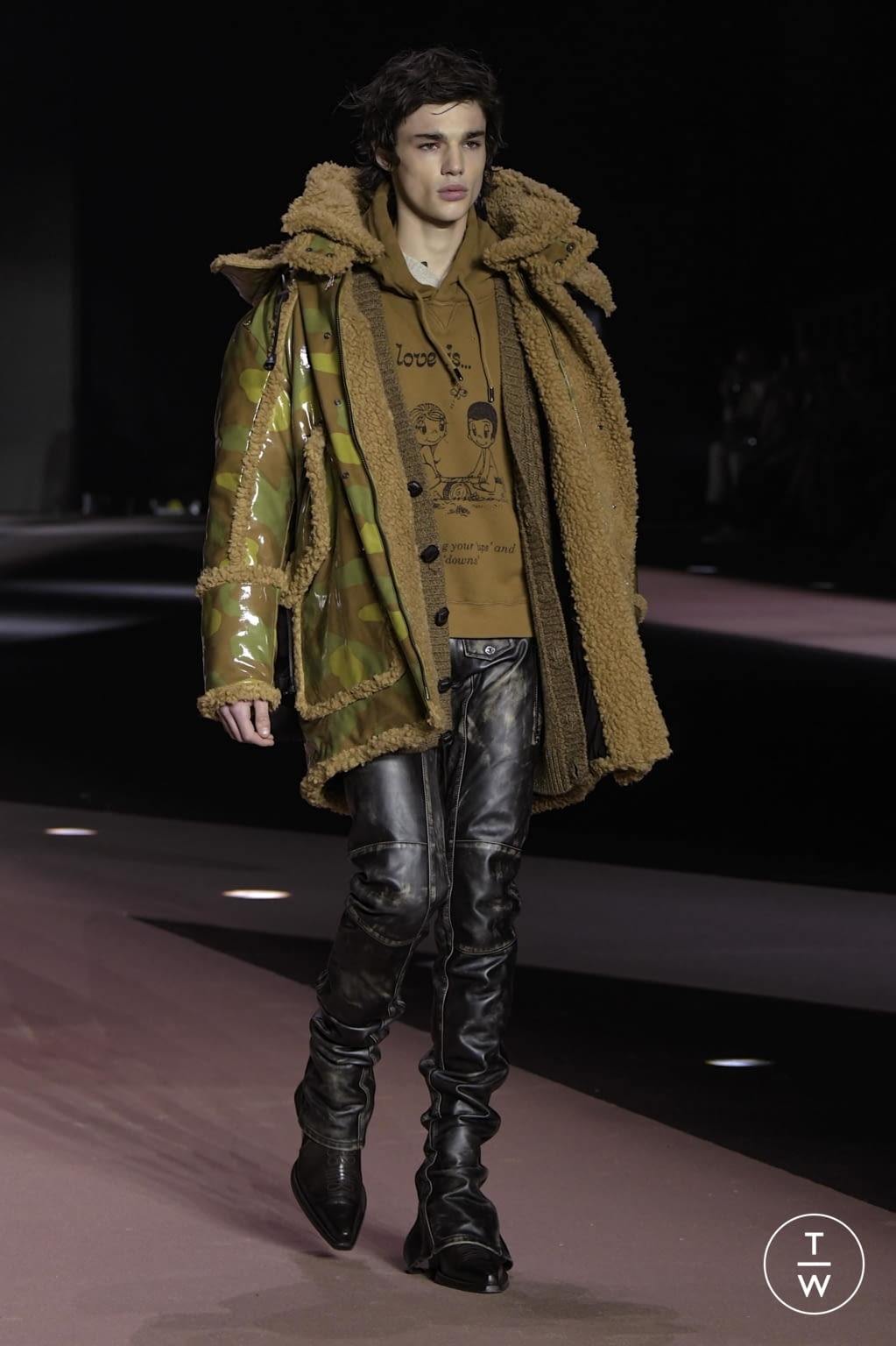 Fashion Week Milan Fall/Winter 2020 look 55 from the Dsquared2 collection menswear