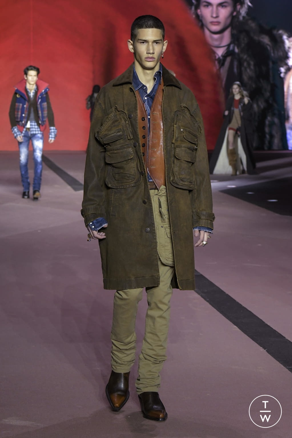 Fashion Week Milan Fall/Winter 2020 look 62 from the Dsquared2 collection menswear