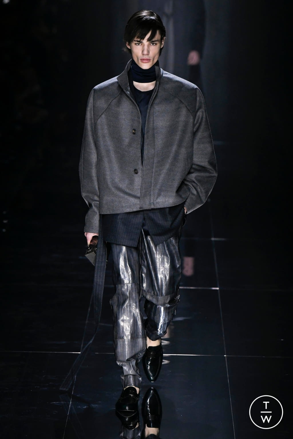 Fashion Week Paris Fall/Winter 2020 look 26 from the Dunhill collection 男装