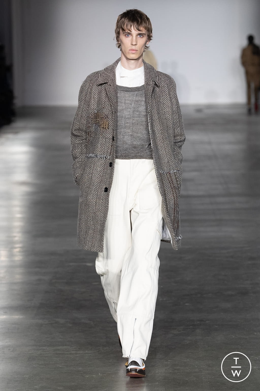 Fashion Week London Fall/Winter 2020 look 5 from the E. Tautz collection menswear