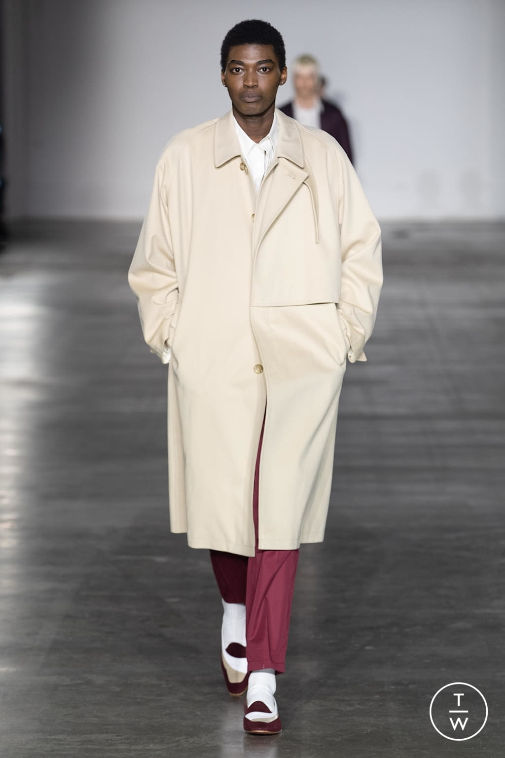 Fashion Week London Fall/Winter 2020 look 6 from the E. Tautz collection menswear