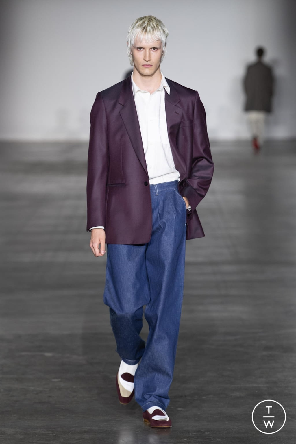 Fashion Week London Fall/Winter 2020 look 7 from the E. Tautz collection menswear