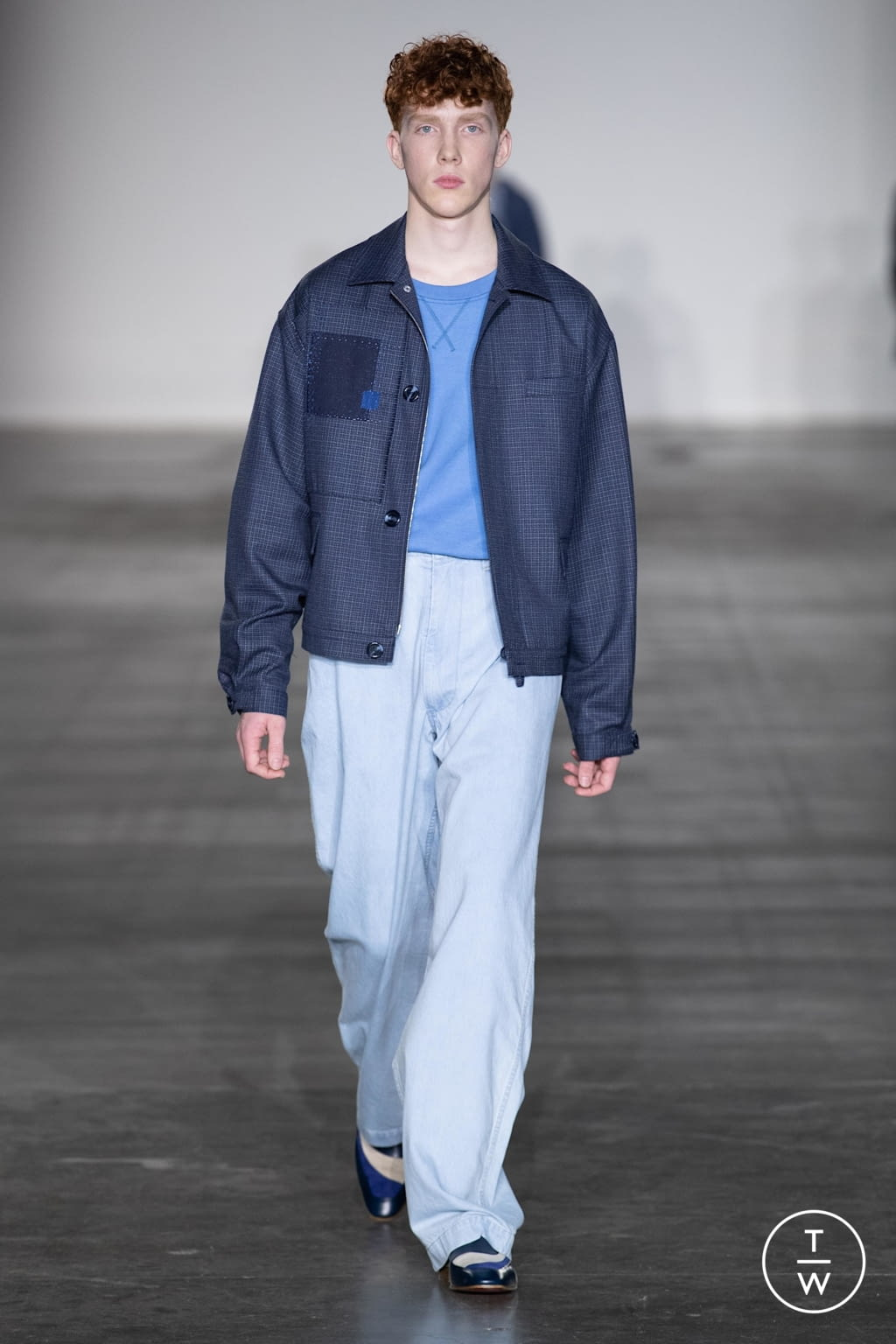 Fashion Week London Fall/Winter 2020 look 10 from the E. Tautz collection menswear