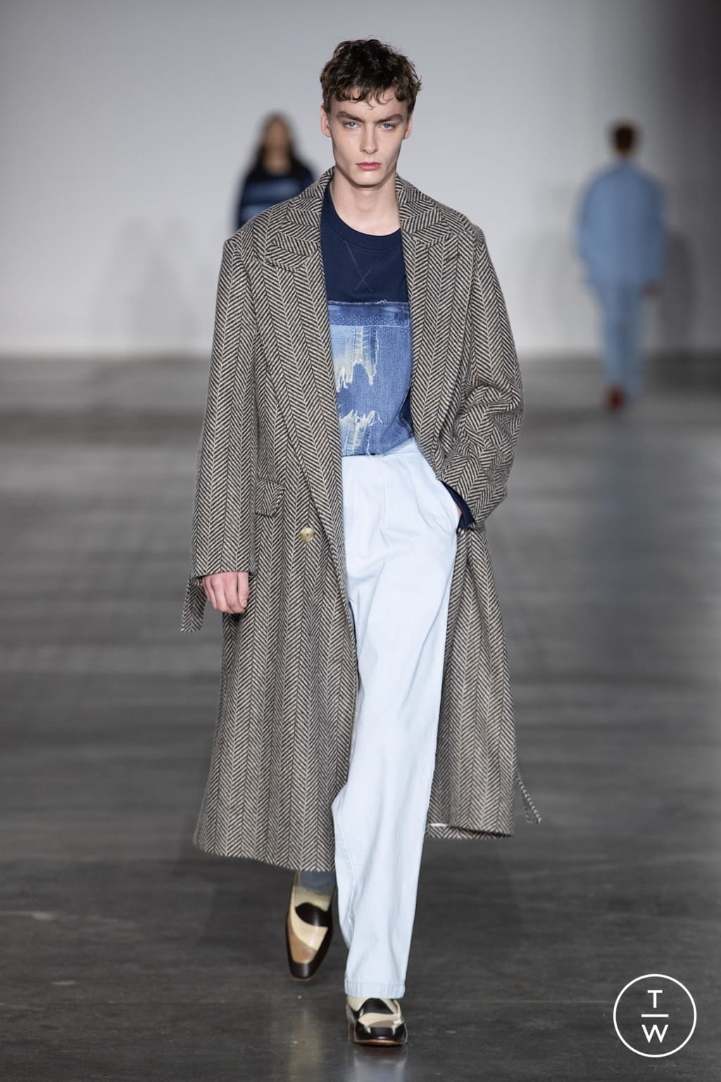 Fashion Week London Fall/Winter 2020 look 22 from the E. Tautz collection menswear