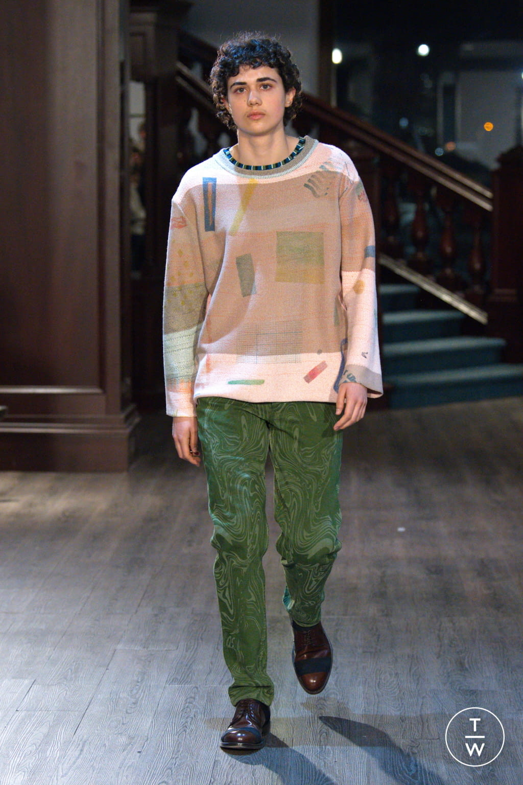 Fashion Week New York Fall/Winter 2020 look 11 from the Eckhaus Latta collection womenswear